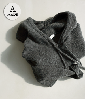 the anna pony wool hood knit[니트BBF96] 2color_free size안나앤모드