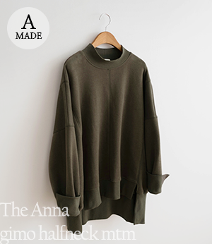 the anna gimo halfneck mtm[티셔츠BC676] 3color_free size안나앤모드